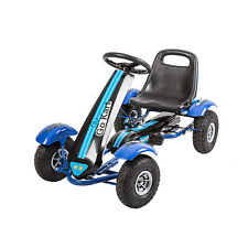 Rides for Kids Pedal Go Kart Racing Cart 4 Wheels Outdoor Trike Bike Blue