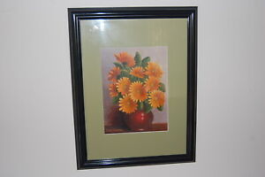 Original 1976 Clem Cooper framed & mounted oil painting on canvas board.