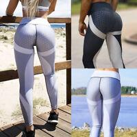 Women Push Up Yoga Pants Leggings Stretch Honeycomb Gym Fitness Sports Trousers