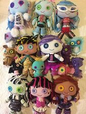 Monster High Plush Soft Toy Teddy Doll LOT  Cleo Deuce Lagoona Spectra Clawdeen