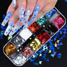 Nail Glitter Sequins Holographic Laser Butterfly Flakes Nail Art 3D Decoration #