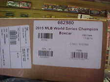 LIONEL,,,,# 82980,,,,,,2015 MAJOR LEAGUE BASEBALL WORLD CHAMPION BOXCAR,,, KC