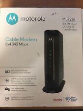 Motorola MB7220 8x4 Cable Modem 343 Mbps DOCSIS 3.0 NEW OPEN BOX