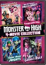 Monster High 4 Movie Collection Friday Night Frights Ghouls Rule New DVD
