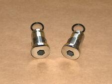Ducati Bevel Single 31.5mm Fork Nut SET Stainless NEW 250 350 450