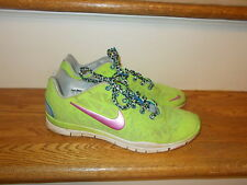 Nike TR Fit 3 Lime Green Sneakers Women's Size 9 GUC