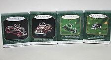 Hallmark Mini Kiddie Car Luxury Edition Christmas Ornaments Lot of 4 1998-2001