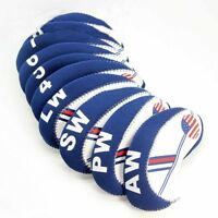 For 10X Craftsman Club Fits any Golf Iron Set Head Covers Headcovers US FLAG