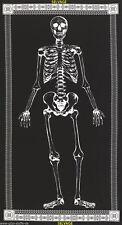 Mr. Bones Glow Gothic Patchwork Stoffe Skelette Halloween Totenkopf Panel Deko