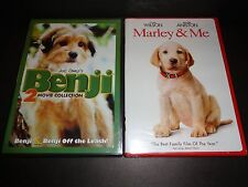 BENJI 2 MOVIE COLLECTION w/MARLEY & ME-2 DVDs-Families will love these two dogs!