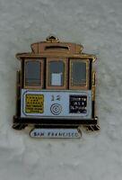 "San Francisco Trolley Cable Street Car Hat Lapel Pin 1.25"" Tie Tack"
