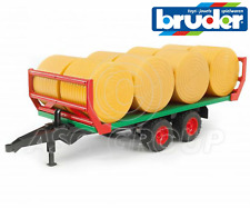 Bruder Toys No 02220 Pro Series Bale Trailer Transporter and 8 Bales NEW