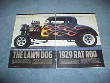 """1929 Dodge Coupe Hemi Powered Hot Rod Article """"The Lawn Dog 1929 Rat Rod"""""""
