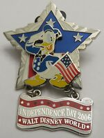 Disney WDW Independence Day 2006 Donald Duck Americana Star Pin