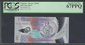 Vanuatu 500 Vatu 2017 P18 Polymer Banknote Uncirculated Graded 67