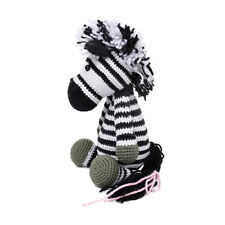 Black-White Zebra Handmade Amigurumi Stuffed Toy Knit Crochet Doll VAC