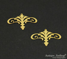 Exclusive 10pcs Raw Brass Fleur de lis Pendant For Necklace Earring Brooch TG147