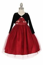 Silver Flower Girls Dress Christmas Pageant Easter Wedding Birthday Formal Party