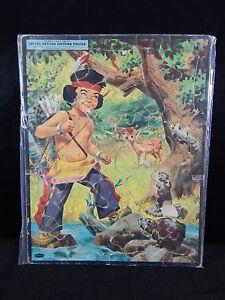 VINTAGE LITTLE BEAVER #4428:29 FRAME-TRAY PICTURE PUZZLE, WHITMAN PUBLISHING