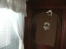 timberland t-shirt brown short sleeve nature&city&ducks largetall NEW no tags