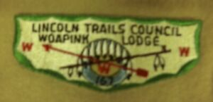 Rare! Boy Scouts of America Lincoln Trails Council Woapink Lodge Patch
