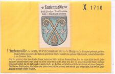 Reklamemarke Wappen von Luckenwalde Brandenburg  um 1925 (B534)