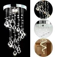 Modern LED Crystal Ceiling Light Lamp Fitting Pendant Chandelier Chrome Lights