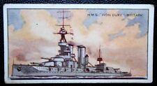 HMS IRON DUKE   Royal Navy Dreadnought Battleship  Original Vintage Card