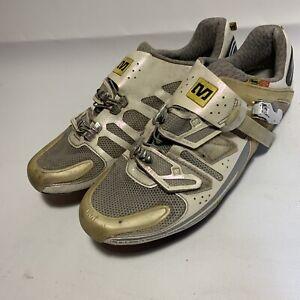 Mavic Energy Full Carbon Cycling Shoes White Size 9 1/2 9.5 EUR 42