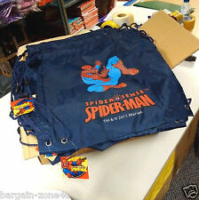 100 x Wholesale Spiderman Kids Swimming PE School Backpack Bag Party Filler Blue