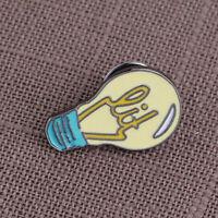Kawaii Cartoon Light Bulb Metal Pin, Enamel Fashion Jewelry Pins Brooch LD
