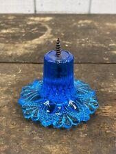 Antique Victorian Blue Sandwich Glass Tie Back