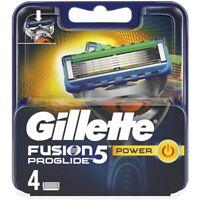 Gillette Fusion5 Proglide Power Razor Blades 4 100% Genuine Free UK Post RRP £16