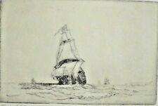 WILLIAM ALEXANDER CUTHBERTSON - Tudor Ship - Etching - Signed.