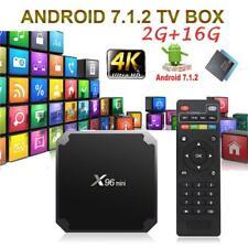 X96mini Smart Android 7.1.2 TV Box S905W Quad Core 2GB 2G 16GB H.265 WiFi Médias
