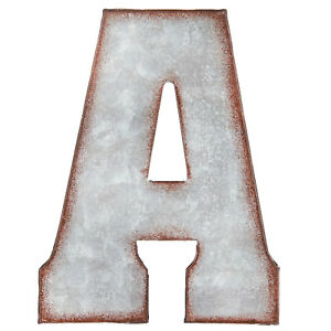Galvanized Metal 3D Letters wall decor rustic farmhouse