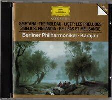 "KARAJAN ""SMETANA/ LISZT/ SIBELIUS"" CD 1983 deutsche grammophon"