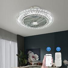 Kristall Deckenventilator Licht Fernbedienung Home Kronleuchter Fan Lampe 50cm