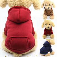 Winter Dog Cat Sweater Pet Coat Jacket Hoodie Pocket Outwear Clothing OutfitGift