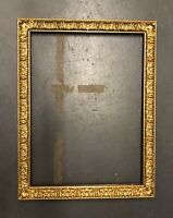 Antique Wood Gesso Gilt Frame 44 x 34