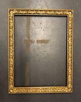 Antique Wood Gesso Gilt Frame 44 x 34