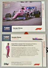 2020 TOPPS NOW #10 Sergio Perez Formula 1 F1 Incredible Recovery Portuguese GP