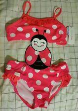 WonderKids Infant Girl One-Piece Swimsuit UPF50 New Lady Bug 12 Mos, 2T