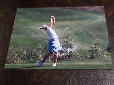 MINEA BLOMQUIST AUTOGRAPHED LPGA GOLF 8X10 PHOTO