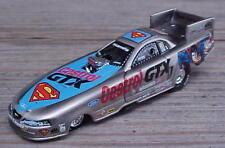 NHRA John Force Drag Racing Brushed Bare Metal Superman Nitro Funny Car 1/64