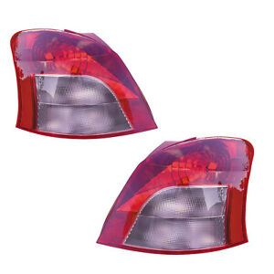 Tail Lights Rear Lamps Pair Set for 07-08 Toyota Yaris Hatchback Left & Right