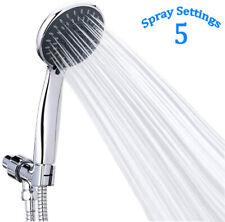 High Pressure Handheld Showerhead W/ Hose Rainfall Shower Set 5 Spray Settings