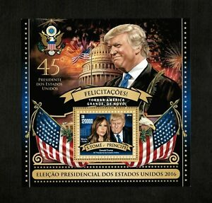 Sao Tome & Principe 2016 - US 45th President Donald Trump - Souvenir Sheet - MNH