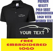 Personalised Embroidered Polo Shirt AUTO SERVICE workwear LOGO