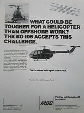 2/1980 PUB MBB HELICOPTERE BO 105 OFFSHORE HELICOPTER HUBSCHRAUBER ORIGINAL AD